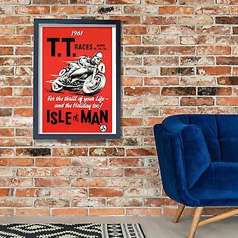 Isle Of Man TT Motorcycle Racing Poster Poster Print Giclee