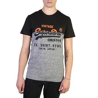Superdry Original Männer ganzjahre T-Shirt - schwarz Farbe 37622