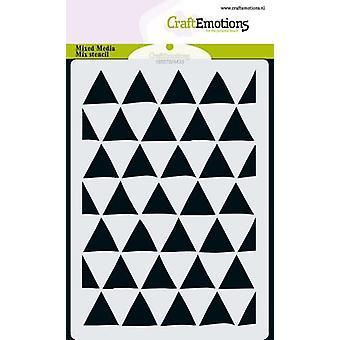 CraftEmotions MM Misture o triângulo de design de estêncil 60 graus A6