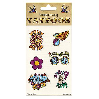 Bristol Novelty 70s Theme Temporary Tattoos (Pack Of 10)