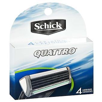 Schick quattro men's refill razor blades, 4 ea