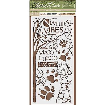 Stamperia Thick Stencil 12x25cm Forest Paw