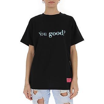 Irène Igtyg002001 Femmes-apos;s Black Cotton T-shirt