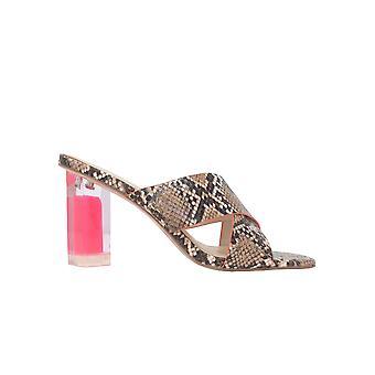 Kendall + Kylie Kk2megyn02 Women's Brown Leather Sandals