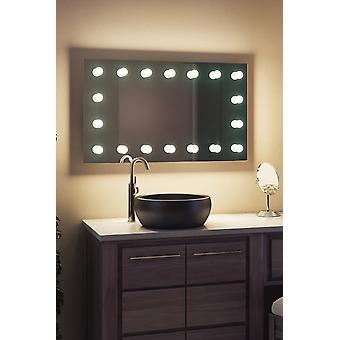 diamant x wallmount hollywood makeup speil + kan dimmes LED k413cwbath