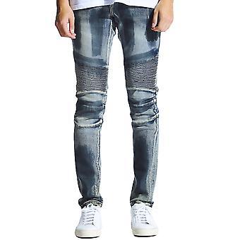 Embellish Altair Denim Jeans Vintage Blue Sand