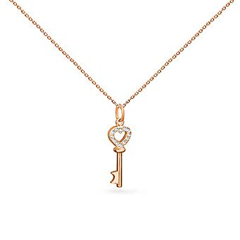 Colar Love Key 18K Ouro e Diamantes