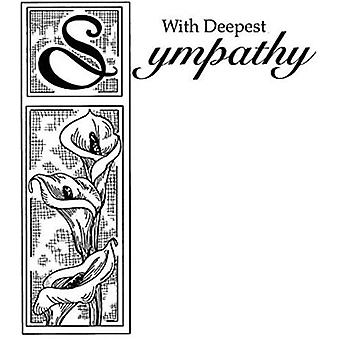 Creative Expressions Pre-Cut Rubber Stamp - With Sympathy
