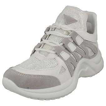 Dames Reflex Lace Up Comfortabele Sport Trainers