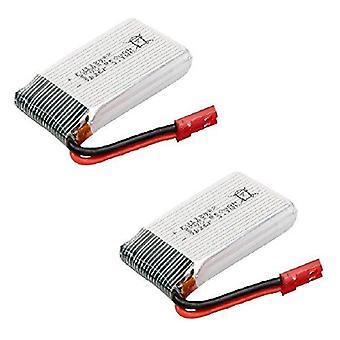 2 Spare battery parts of 3.7v 850mah syma li-po for quadcopter rc drone syma x56 x56w x54hw x54hc folding