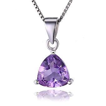 Amethyst trillion cut 1.6ct iobi precious gems pendant necklace
