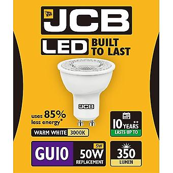 JCB LED GU10 5w Light Bulb Cap 350lm 3000k Warm White