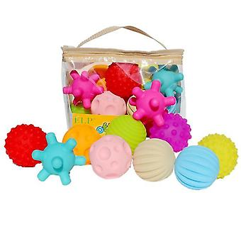 Baby Rubber Hand Ball -textured Touch Ball For Sensory Fun, Bath Time, Type -