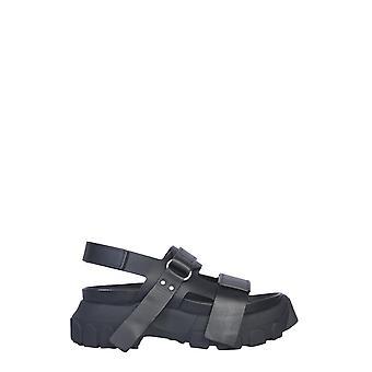 Rick Owens Rp20s1817lbo099 Dames's Zwart lederen sandalen