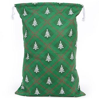 Reusable Christmas Gift Bag - Christmas Tree Giftwrap Design