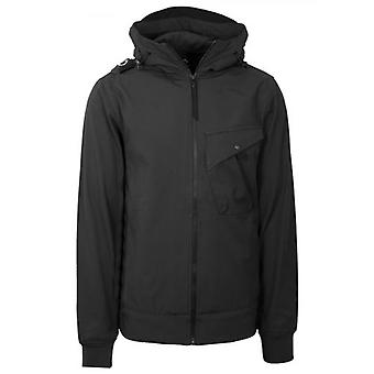 MA.STRUM Black Softshell Hooded Jacket