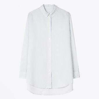PS Paul Smith  - Stripe Oversized Shirt - White/Blue