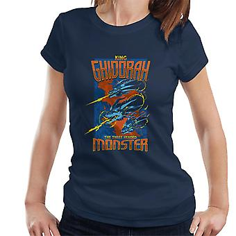Godzilla King Ghidorah The Three Headed Monster Women's T-Shirt