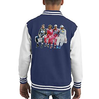 Imágenes del automovilismo Mansell Piquet Prost Senna Pitwall Kid's Varsity Chaqueta