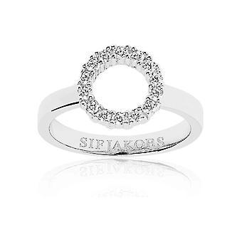Sif Jakobs - Ring - Women - BIELLA - Sterling Silver 925 - SJ-R337-CZ-56