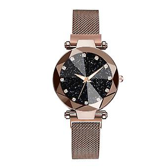 Yuhao Starry Night Watch Ladies - Luxury Anologue Quartz Movement for Women Brown