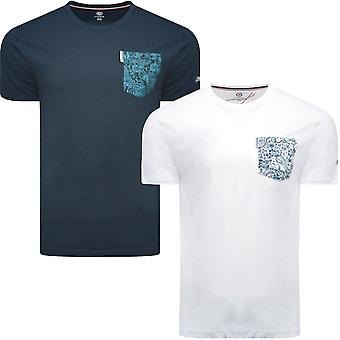 Lambretta Mens Paisley Pocket Casual Crew Neck Cotton T-Shirt Top Tee