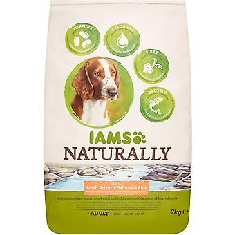 Iams Naturally Adult Dog Rich In North Atlantic Salmon & Rice - 7kg