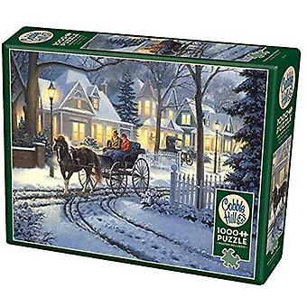 Cobble hill - horse-drawn buggy - 1000 pc puzzle