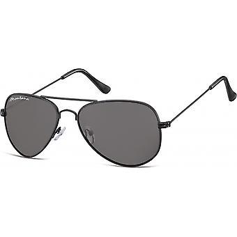 Solglasögon Unisex Cat.3 svart/grön (S94A)