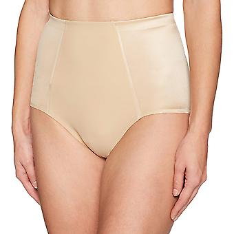Arabella Women's Shine Microfiber Brief met Spacer, Sand, Medium