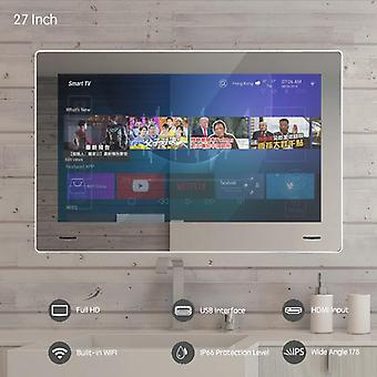 27inch Airplay Cast baño espejo Led Tv Android Wi-fi panel de cristal - impermeable cuarto de ducha Internet Tv Full Hd 1080 Dtv Dvb-t