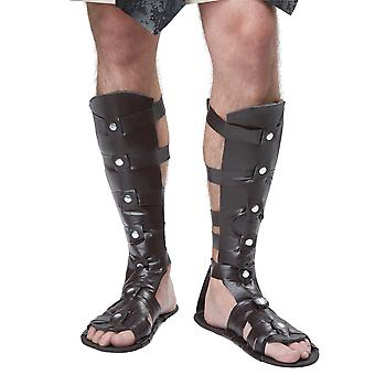 Gladiator Herculas Spartan Roman Greek Warrior Mens Costume Sandals Shoes