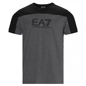 EA7 Emporio Armani Logo Block Crew Neck T-Shirt Grey 6HPT52 PJT3Z