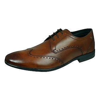 Base Londen Buckingham mens gewassen lederen Brogue/schoenen-Tan