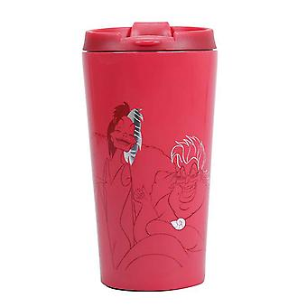 villains Travel Mug Evil Today Ursula Cruella de Vil  new Official Red Metal