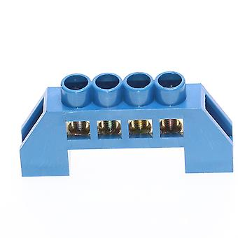 1pcs Greenblue Screw Brass Rail Terminal Block Earth And Neutral Blocks 4pin6pin8pin10pin12pin