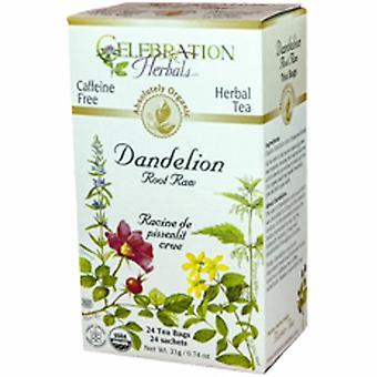 セレブレーションハーブオーガニックタンポポルート生茶、24袋