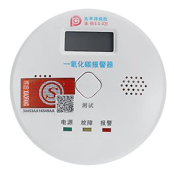 Smoke Alarm LCD CO Carbon monoxide smoke integrated alarm Detector Warn Sensor