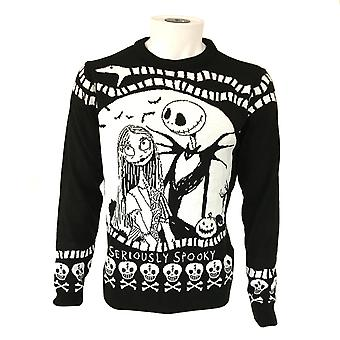 Nightmare Before Christmas Unisex Adult Seriously Spooky Jumper