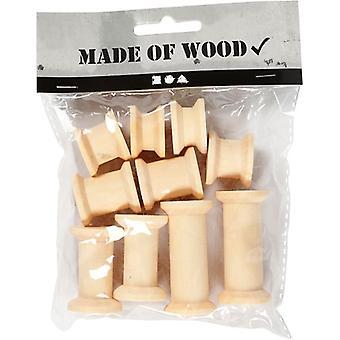 Bag Of Wooden Spools