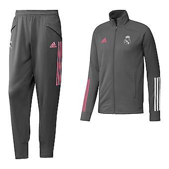 2020-2021 Real Madrid Adidas Tracksuit (Grey) - Kids