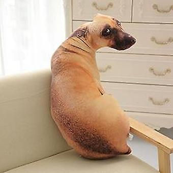 Sittande Hund Formad Fyllda Kudde Leksak