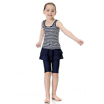 "Muslim Girls New Striped Hijab Swimsuit,""s Beach Swimming Suit Islamic"