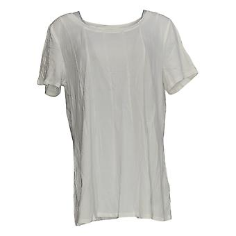 N'importe qui femmes's Top Léger Cozy Knit Seamed Tee White A367645