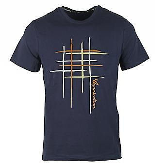 Aquascutum Crew Neck Navy T-Shirt