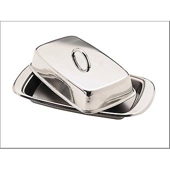 Kitchen Craft Butter Dish & Cover Stainless Steel KCBUT