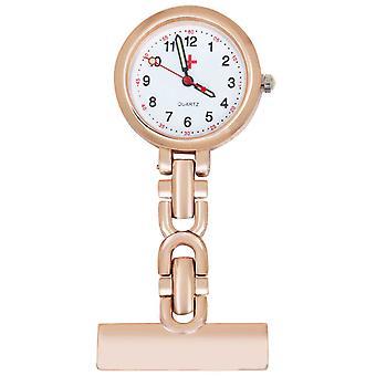 TRIXES Fob Watch Nurses Fob Watch Rose Gold Steel Quartz Movement Perfect for Medical Professionals