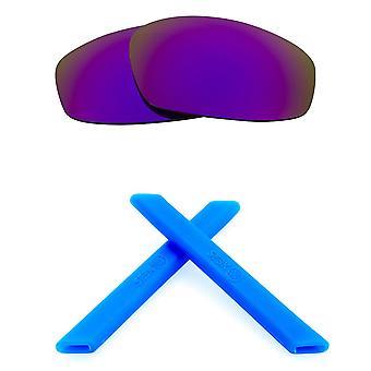 Replacement Lenses Kit for Oakley Split Jacket Purple Mirror Blue Anti-Scratch Anti-Glare UV400 by SeekOptics