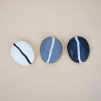Handgemaakte Stripe Pebble Soap