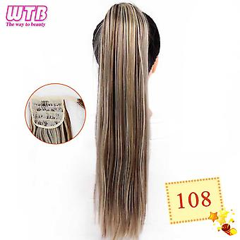 Heat Resistant Long Wavy Wrap Around Clip In Ponytail Hair Extension